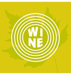 Grape leaf in circle vector image