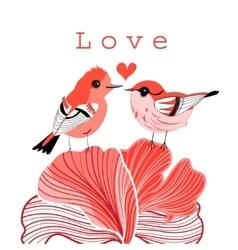 Graphic love birds vector