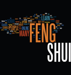 Learn feng shui text background word cloud concept vector