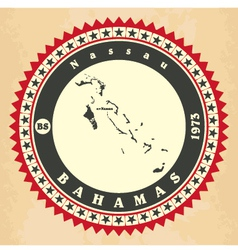Vintage label-sticker cards of Bahamas vector image