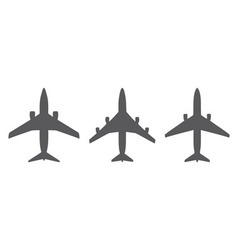 Airplanes icons vector image vector image