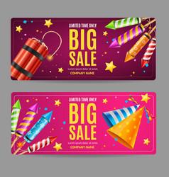 Big sale menu option banner card set vector