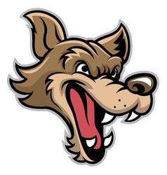 Cartoon of bad wolf head vector