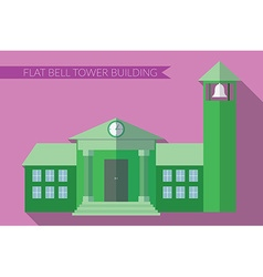 Flat design modern of building with bell tower vector image vector image