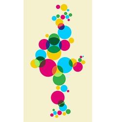 Multicolored bubbles background vector