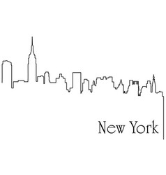 new york city one line drawing vector image