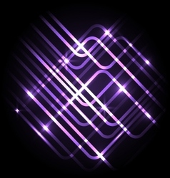 Abstract neon purple background with lines vector