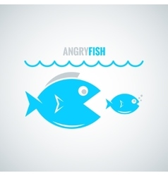 fish concept design background vector image