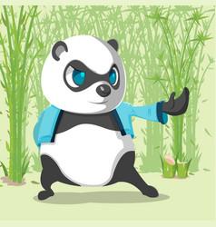 kungfu panda cute character design vector image