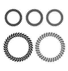 Laurel Wreaths Set vector image