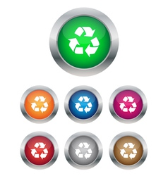 Recycle buttons vector image vector image