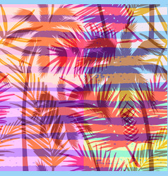 seamless exotic pattern with tropical palm on vector image vector image