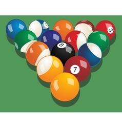 Set of billiard balls realistic vector image vector image