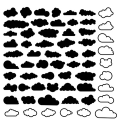 sky clouds vector image