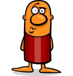confused guy cartoon vector image vector image