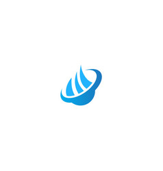 Abstract droplet water logo vector