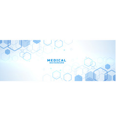 Abstract medical background with hexagonal vector