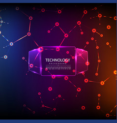 abstract technology digital hi tech hexagons vector image