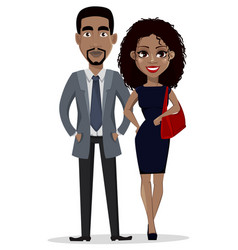 African american business man and business woman vector