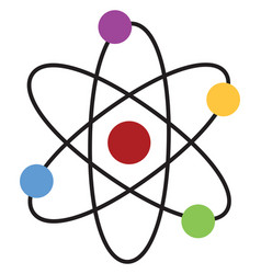 atom on white background vector image