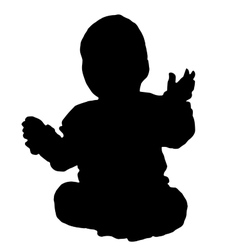 Baby siit on a floor vector image