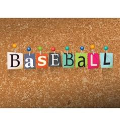 Baseball Concept vector