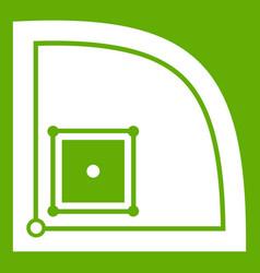baseball field icon green vector image