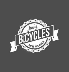 Bicycle retro badge vector