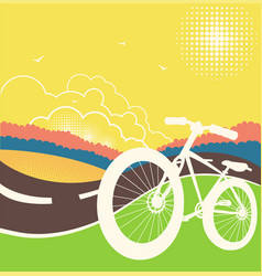 bike on country road vector image