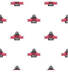 Black friday gift box pattern flat vector