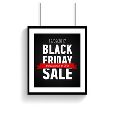 black friday sale poster in frame online banner vector image