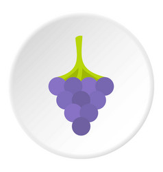Black grape icon circle vector
