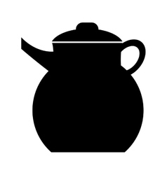 Black kettle front view graphic vector