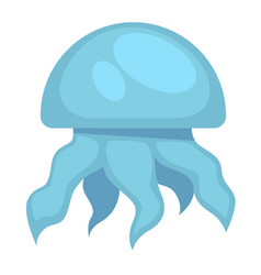 Blue jelly fish vector