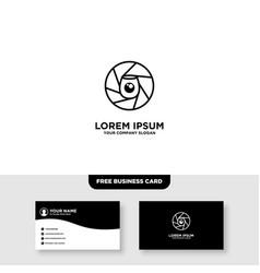 Camera wine monoline logo and business card vector