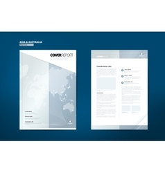 Catalog for Asia Catalog Design Cover Catalog vector image