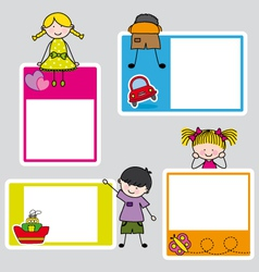 Children picture frame for girl and boy vector image