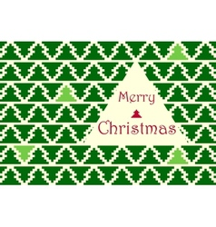 Christmas card with pine pattern vector image
