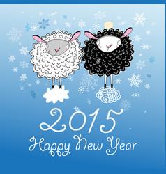 christmas card with sheep vector image