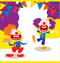 clowns for your party banner vector image