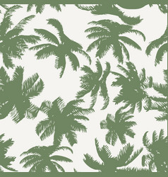 colorful palm tree seamless pattern vector image