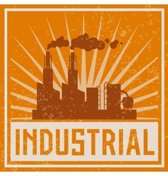 Construction industrial building icon vector image