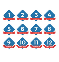 countdown badges days to go sale labels vector image
