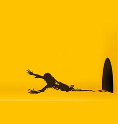 Crawl zombie yellow vector