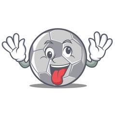 crazy football character cartoon style vector image