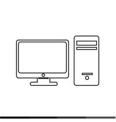 desktop computer icon design vector image