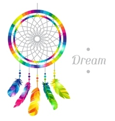 Dream catcher with abstract bright transparent vector