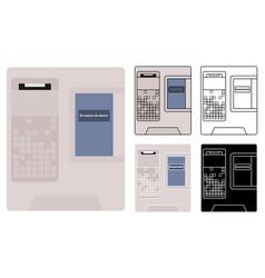 electronics ballot box mexico vector image