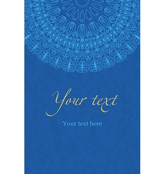 Ethnic boho blue pattern mandala vector