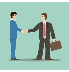 flat design style businessmans shaking hands vector image